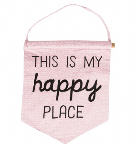 This Is My Happy Place Pastel Message Flag